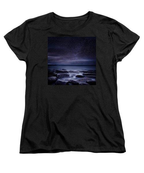 Shining In Darkness Women's T-Shirt (Standard Cut) by Jorge Maia