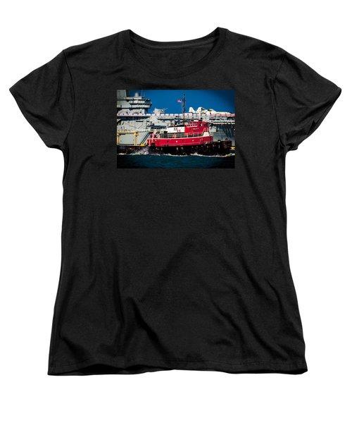 Women's T-Shirt (Standard Cut) featuring the photograph Shipping Lane Hero by Bartz Johnson