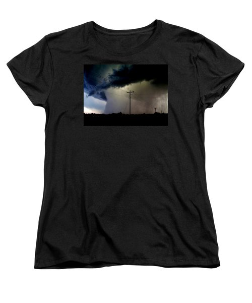 Women's T-Shirt (Standard Cut) featuring the photograph Shrouded Tornado by Ed Sweeney