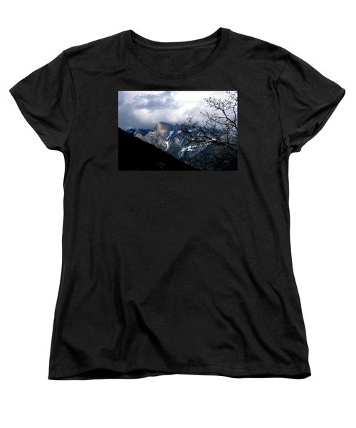 Sierra Nevada Snowy View Women's T-Shirt (Standard Cut) by Matt Harang