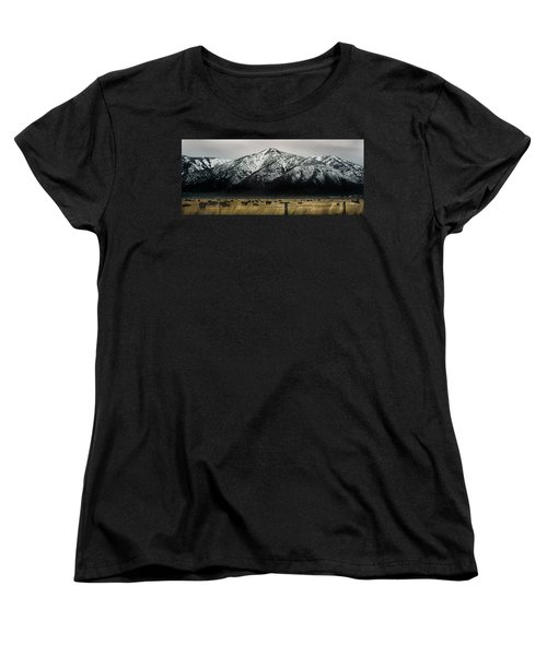 Sierra Nevada Mountains Near Lake Tahoe Women's T-Shirt (Standard Cut) by Steve Archbold