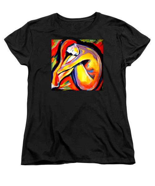 Women's T-Shirt (Standard Cut) featuring the painting Silence by Helena Wierzbicki