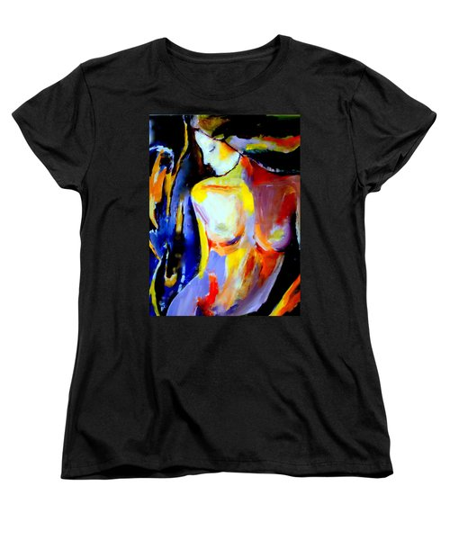 Women's T-Shirt (Standard Cut) featuring the painting Silent Glow by Helena Wierzbicki