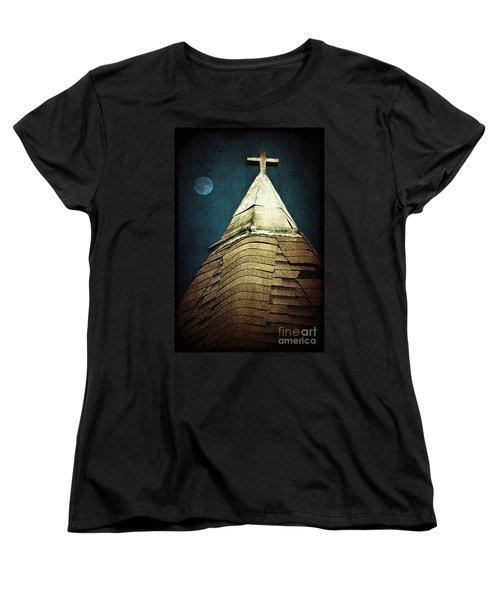 Silent Night Women's T-Shirt (Standard Cut) by Trish Mistric