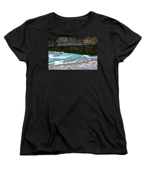 Women's T-Shirt (Standard Cut) featuring the photograph Silky Flow by Linda Bianic