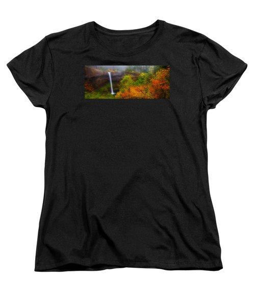Silver Falls Pano Women's T-Shirt (Standard Cut) by Darren  White