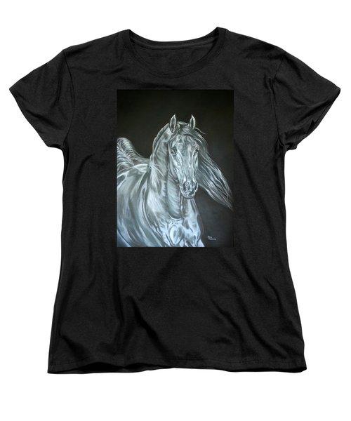 Women's T-Shirt (Standard Cut) featuring the painting Silver by Leena Pekkalainen