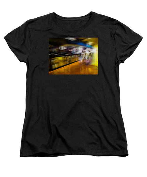 Women's T-Shirt (Standard Cut) featuring the photograph Silver People In A Golden World by Alex Lapidus
