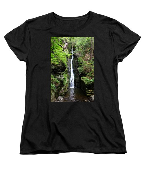 Women's T-Shirt (Standard Cut) featuring the photograph Silver Thread Falls by Trina  Ansel