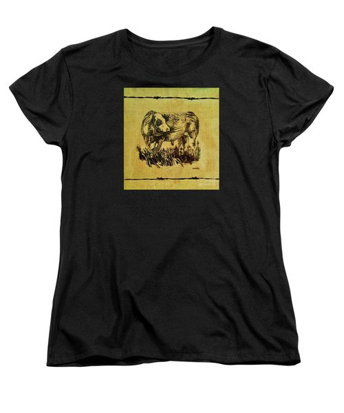 Simmental Bull 12 Women's T-Shirt (Standard Cut) by Larry Campbell