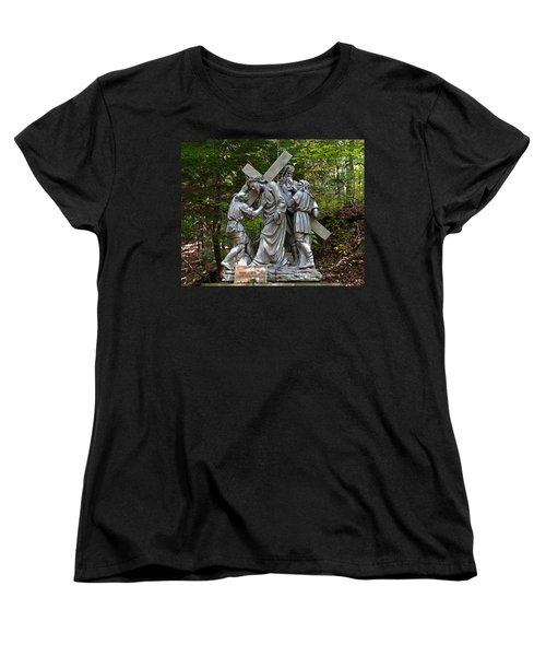 Simon Helps Jesus Women's T-Shirt (Standard Cut) by Terry Reynoldson