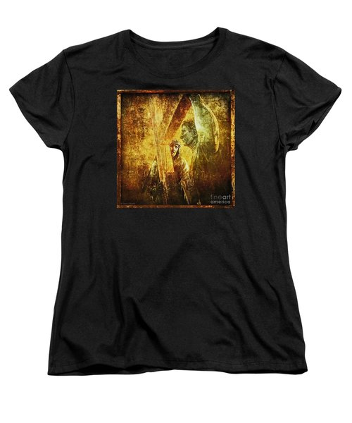 Simon Helps Jesus Via Dolorosa 5 Women's T-Shirt (Standard Cut) by Lianne Schneider
