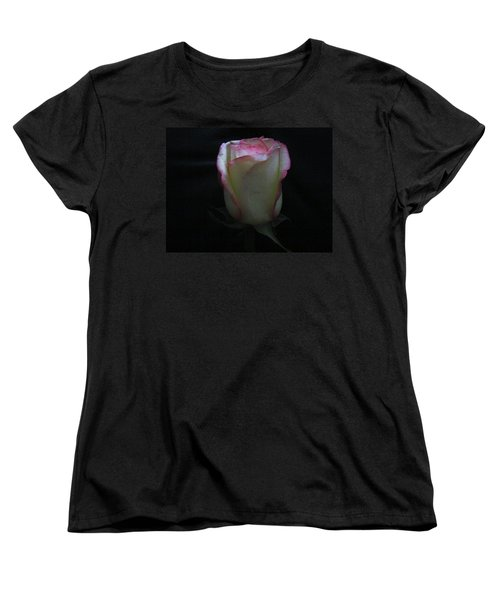 Women's T-Shirt (Standard Cut) featuring the photograph Single Pink Shade Rose by Tina M Wenger