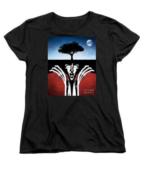 Women's T-Shirt (Standard Cut) featuring the digital art Sir Real by Phil Perkins