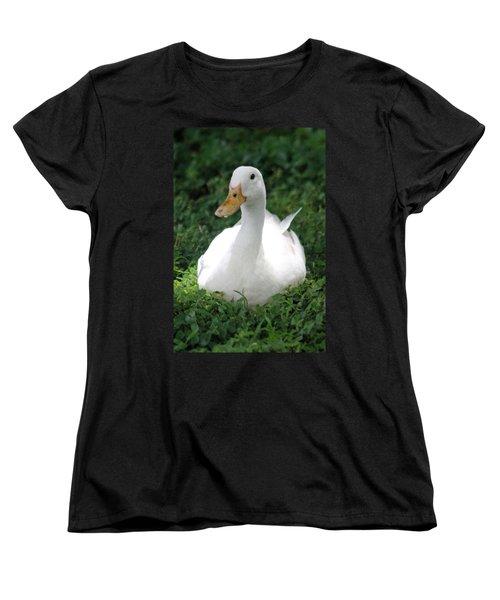 Sitting Duck Women's T-Shirt (Standard Cut) by Pamela Walton