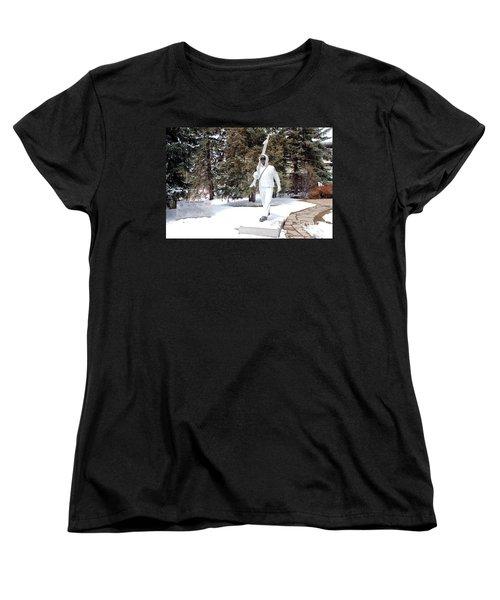 Women's T-Shirt (Standard Cut) featuring the photograph Ski Trooper by Fiona Kennard
