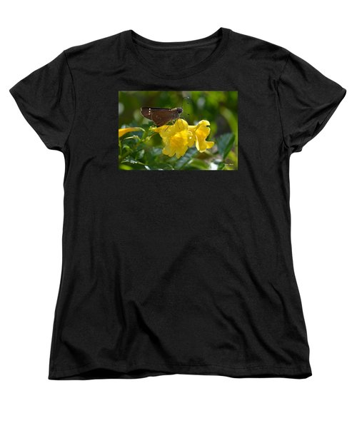 Women's T-Shirt (Standard Cut) featuring the photograph Skipper Butterfly 2 by Debra Martz