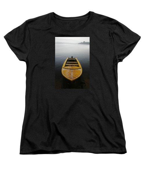Women's T-Shirt (Standard Cut) featuring the photograph Skc 0042 Calmness Anchored by Sunil Kapadia
