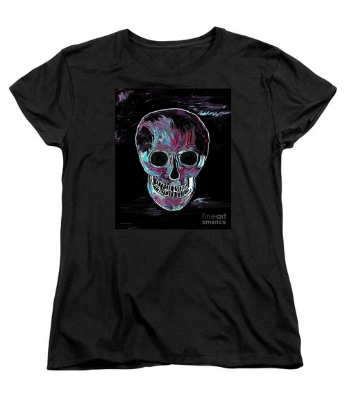 Women's T-Shirt (Standard Cut) featuring the painting Skull by Annie Zeno