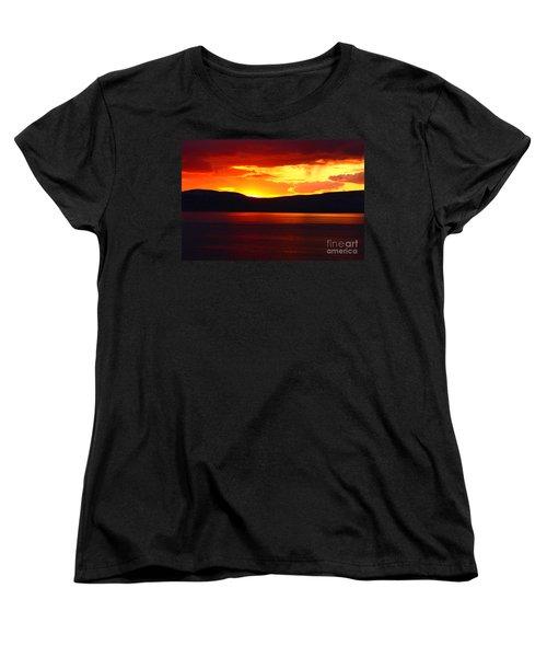 Sky Of Fire Women's T-Shirt (Standard Cut) by Aidan Moran