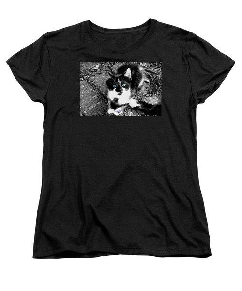 Women's T-Shirt (Standard Cut) featuring the photograph Skylar Aka Dottie by Cynthia Lassiter
