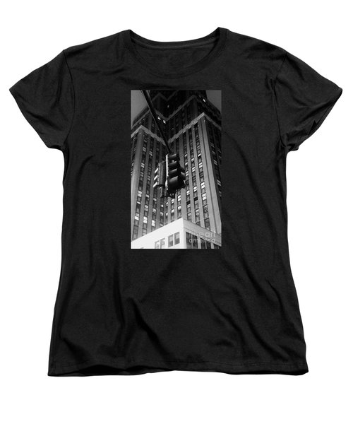 Skyscraper Framed Traffic Light Women's T-Shirt (Standard Cut) by James Aiken
