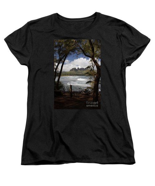Sleeping Giant Women's T-Shirt (Standard Cut) by Suzanne Luft
