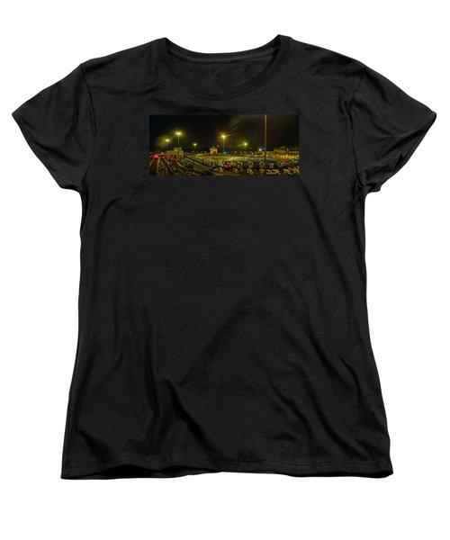 Sleeping Subways Women's T-Shirt (Standard Cut) by Jeffrey Friedkin