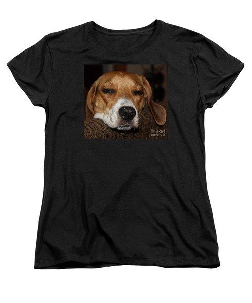 Women's T-Shirt (Standard Cut) featuring the photograph Sleepy Beagle by John Telfer
