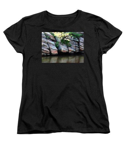 Sliced Rock Women's T-Shirt (Standard Cut) by Natalie Ortiz