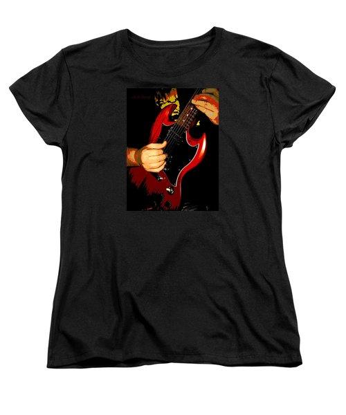 Red Gibson Guitar Women's T-Shirt (Standard Cut)
