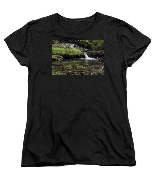 Small Falls On West Beaver Creek Women's T-Shirt (Standard Cut) by Kathy McClure