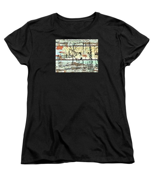 His First Horse  Women's T-Shirt (Standard Cut) by Larry Campbell
