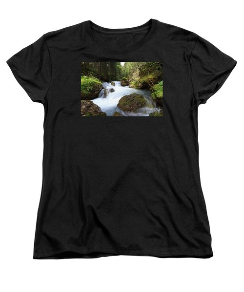 Women's T-Shirt (Standard Cut) featuring the photograph Small Stream by Antonio Scarpi
