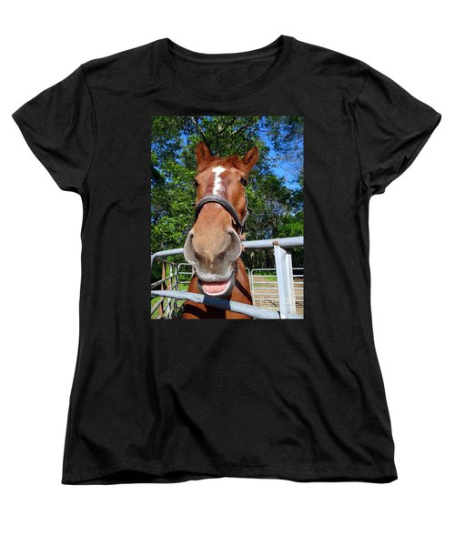Women's T-Shirt (Standard Cut) featuring the photograph Smile by Ed Weidman