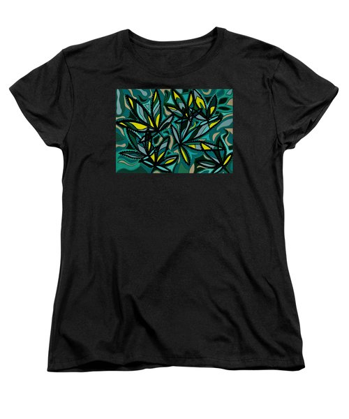 Women's T-Shirt (Standard Cut) featuring the painting Smoke On The Water by Barbara St Jean