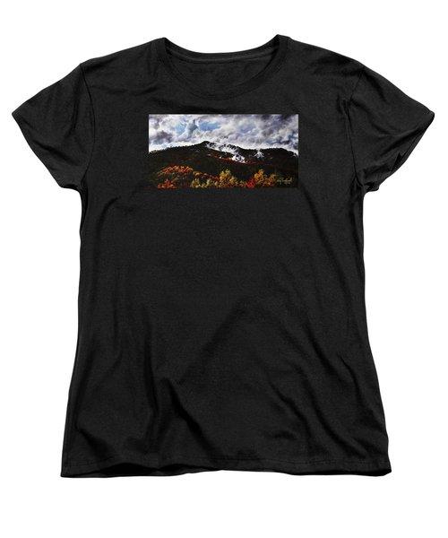 Women's T-Shirt (Standard Cut) featuring the painting Smoky Mountain Angel Hair by Craig T Burgwardt