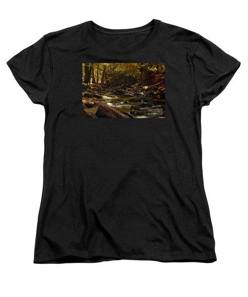 Smoky Mountain Stream Women's T-Shirt (Standard Cut) by Patrick Shupert
