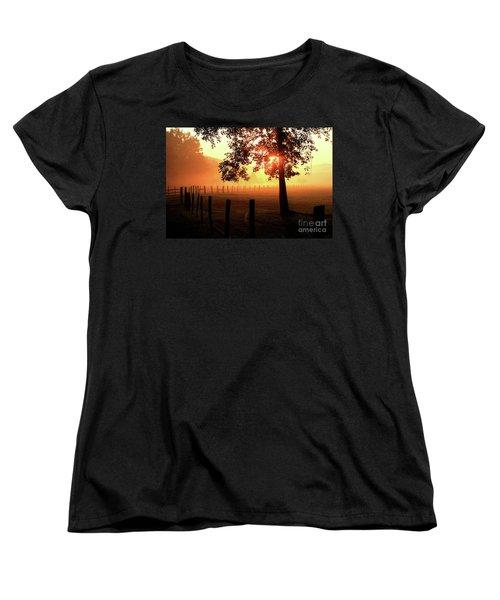 Smoky Mountain Sunrise Women's T-Shirt (Standard Cut) by Douglas Stucky