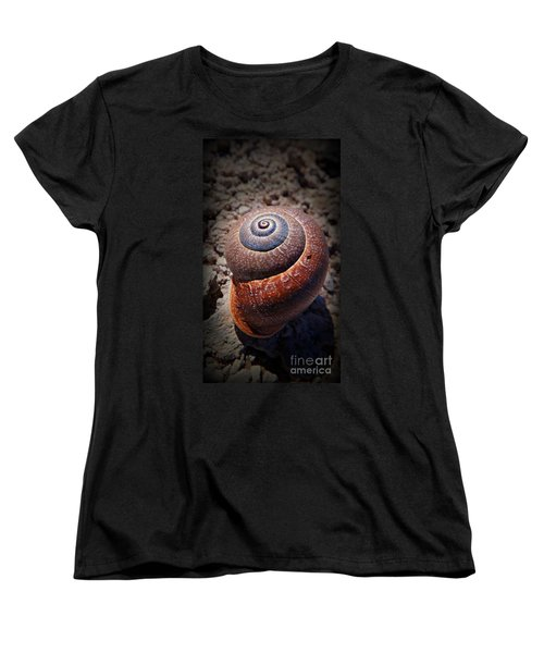 Women's T-Shirt (Standard Cut) featuring the photograph Snail Beauty by Clare Bevan