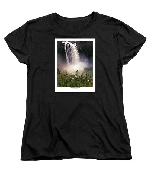 Women's T-Shirt (Standard Cut) featuring the photograph Snoqualmie Falls Wa. by Kenneth De Tore
