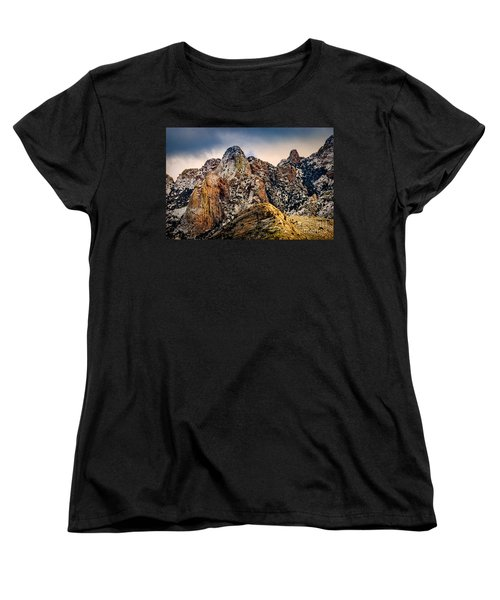 Women's T-Shirt (Standard Cut) featuring the photograph Snow On Peaks 45 by Mark Myhaver