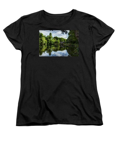 Snowdonia Summer On The River Women's T-Shirt (Standard Cut) by Beverly Cash