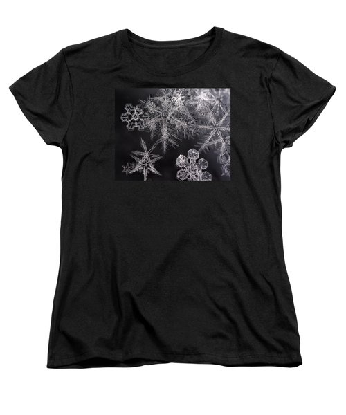 Snowflakes Women's T-Shirt (Standard Cut) by Eunice Gibb