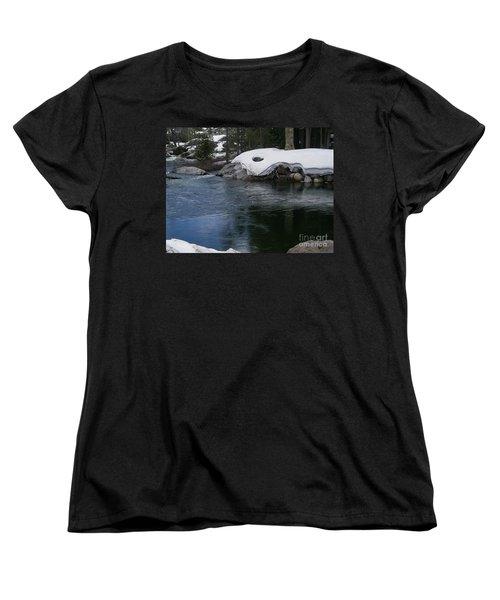 Women's T-Shirt (Standard Cut) featuring the photograph Snowy River Bend by Bobbee Rickard