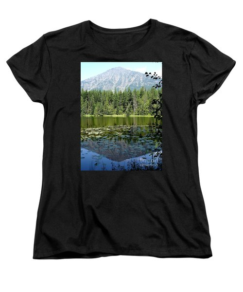 Women's T-Shirt (Standard Cut) featuring the photograph Snyder Lake Reflection by Kerri Mortenson