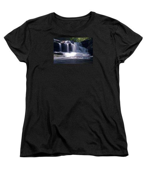 Soft Light Dunloup Falls Women's T-Shirt (Standard Cut) by Shelly Gunderson