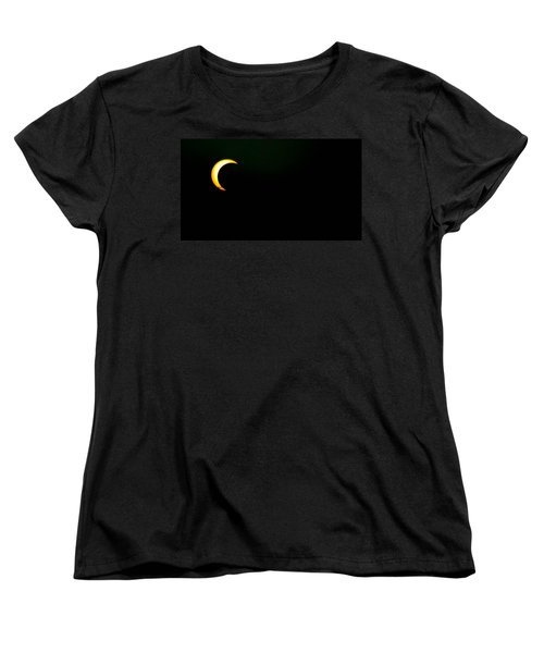 Women's T-Shirt (Standard Cut) featuring the photograph Solar Eclipse 2012 by Angela J Wright