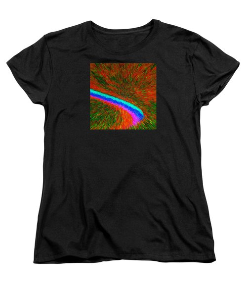 Women's T-Shirt (Standard Cut) featuring the painting Solar Winds C2014 by Paul Ashby