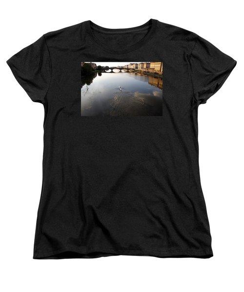Solitary Sculler Women's T-Shirt (Standard Cut) by Debi Demetrion